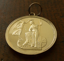 Load image into Gallery viewer, Large Naval Gold Medal issued by The Nelson Society on the Trafalgar Bicentenary