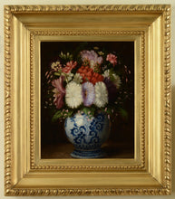 Load image into Gallery viewer, A pair of still lifes of mixed flowers in vases, c.1870s