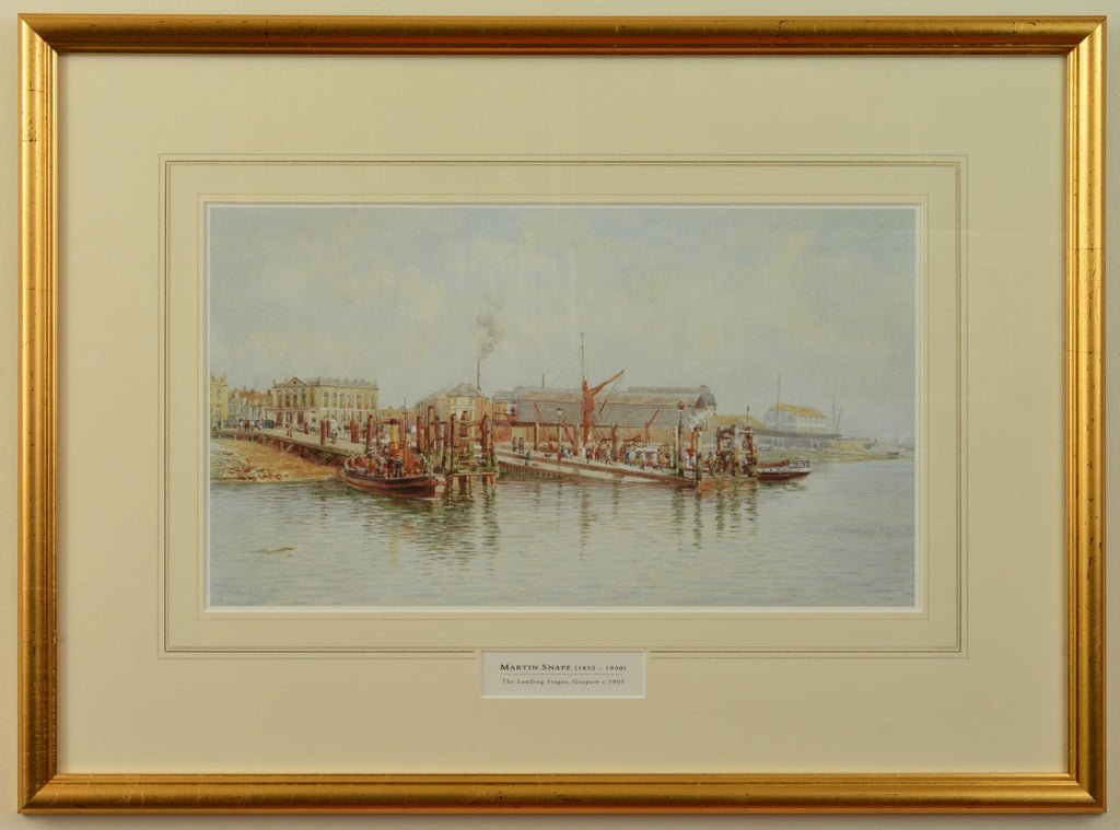 The Landing Stages, Gosport c.1905, by Martin Snape