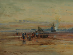 Fine watercolour of Portchester Castle by Thomas Bush Hardy
