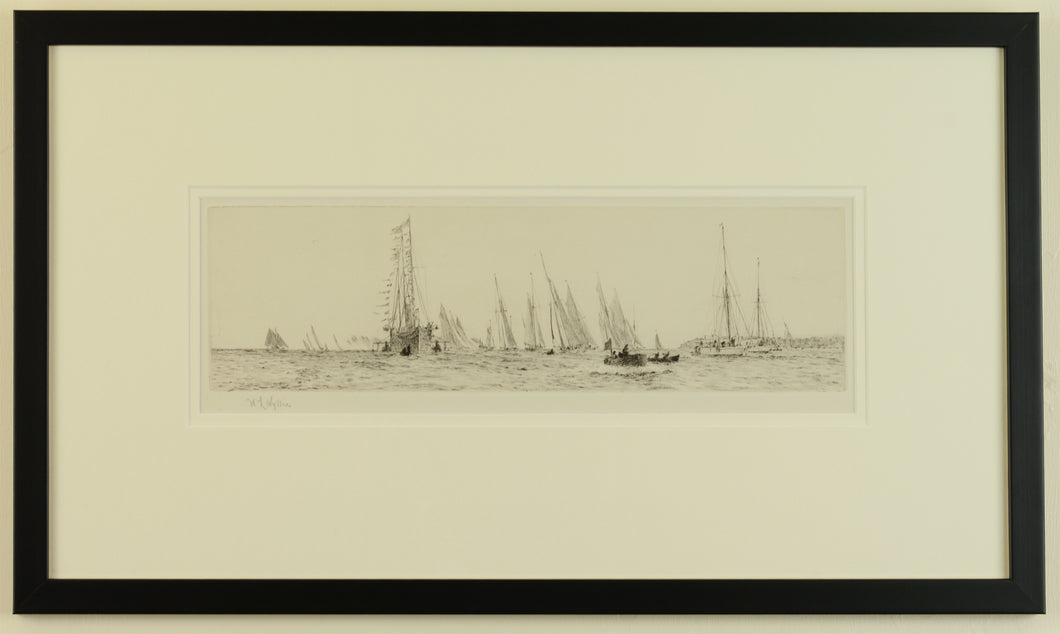 The King's Yacht at Cowes - Signed Etching by W.L. Wyllie