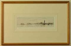 Bait Diggers at Portchester - signed etching by W.L. Wyllie