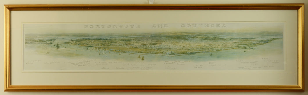 Panoramic View of Portsmouth & Southsea by W.L. Wyllie