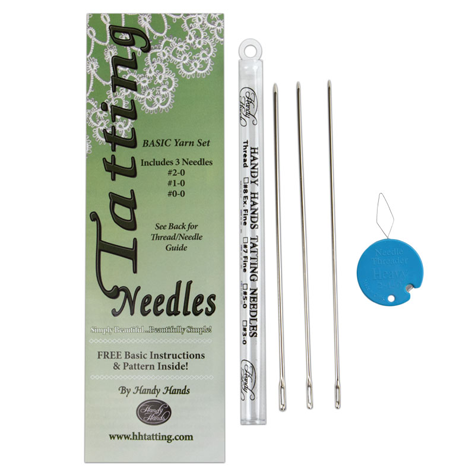 Yarn Tatting Needle Thread Set – Sizes 0, 1, and 2