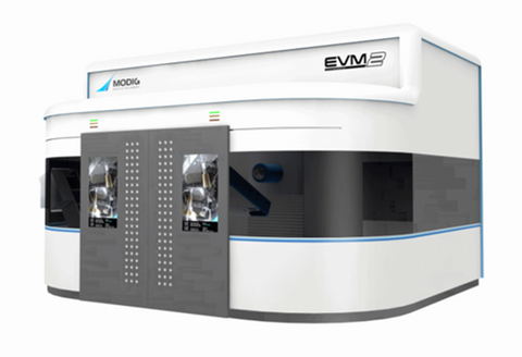 MODIG EVM2 specifically designed for high precision of larger aluminium components for electric vehicles