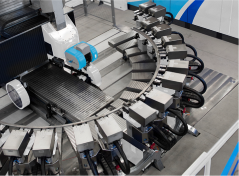 FlexiMill horizontal, high-speed, six-axis machining center that offers excellent process improvement opportunities