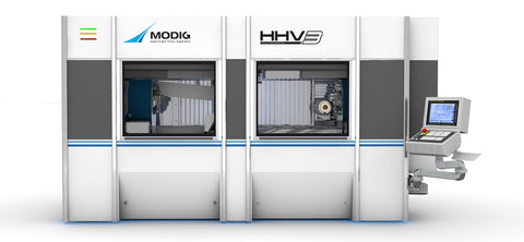 HHV3 High velocity high production rate machining centre from Modig with 3 rotary tables