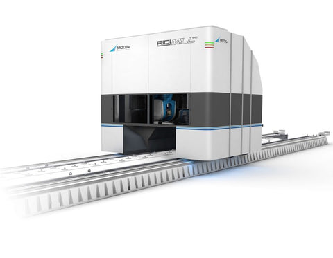 RigiMill vertical machining centre with moving gantry to machine large or long aluminium parts