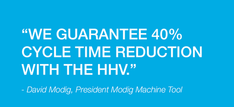 MODIG guarantees minimum of 40% cycle reduction time for horizontal machining