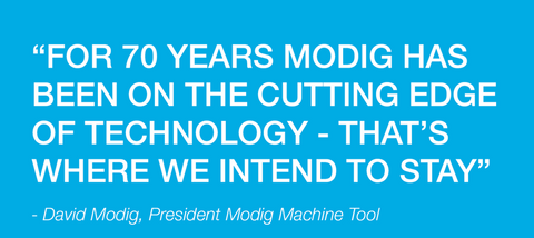 MODIG world leader in high productivity machining represented by M-Tech in UK and EIRE