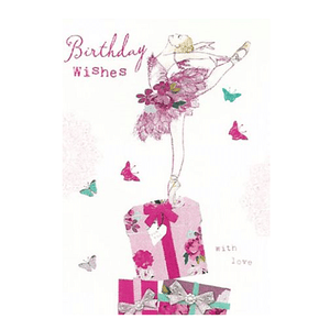 Ballerina Birthday Wishes Birthday Card - Cotswold Jewellery