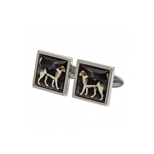 Fox Hounds Cufflinks inspired by Stubbs the English Painter - Cotswold Jewellery