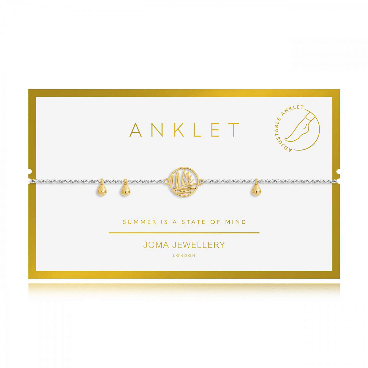 Anklet Gold Palm-joma-jewellery - Cotswold Jewellery