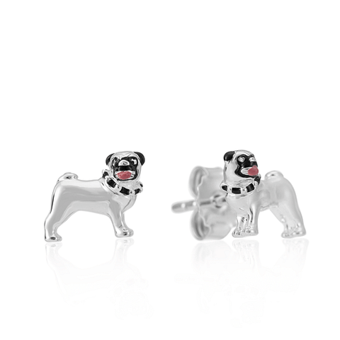 Pug Dog Stud Earrings - Cotswold Jewellery