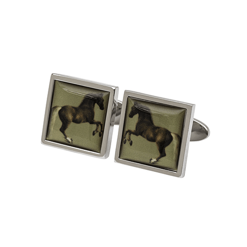 Rearing Horse Cufflinks inspired by English Painter Stubbs - Cotswold Jewellery