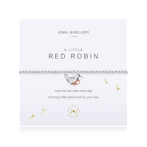 A Little - Red Robin Bracelet - Cotswold Jewellery