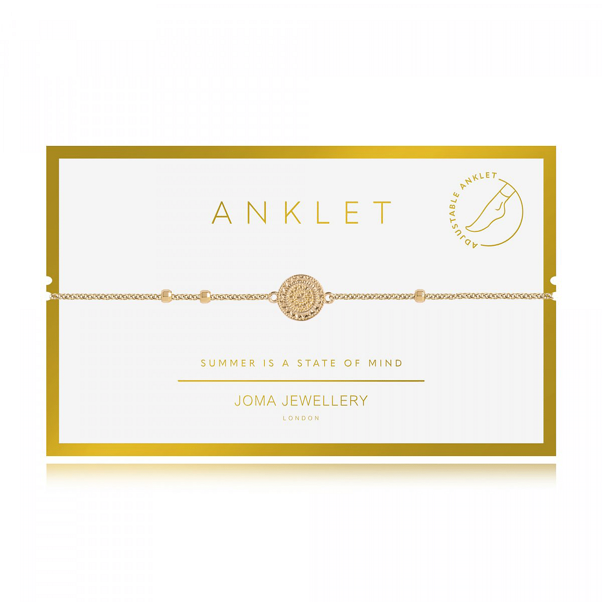 Anklet Gold Coin - Cotswold Jewellery