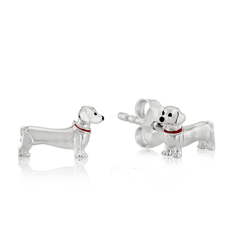 Dachshund Dog Stud Earrings