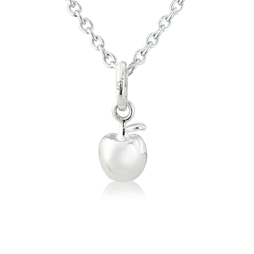 Silver Apple Pendant - Cotswold Jewellery