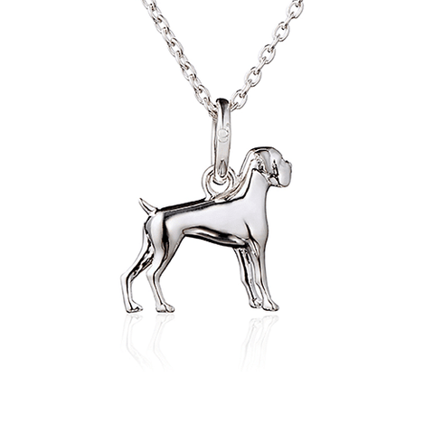 Boxer Dog Pendant - Cotswold Jewellery