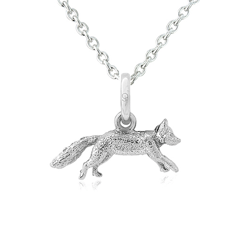 Mr Fox Silver Pendant - Cotswold Jewellery
