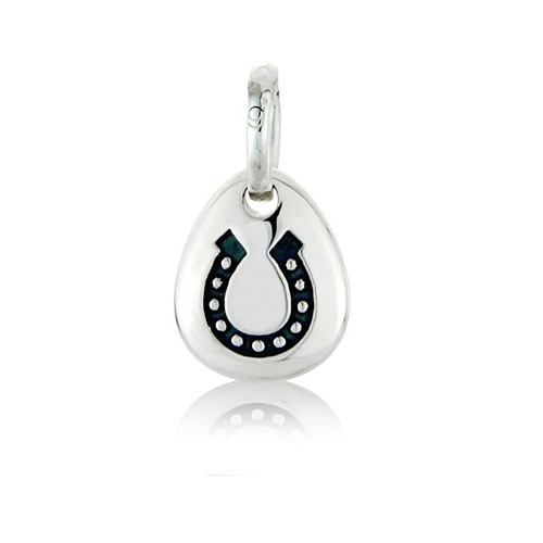 Lucky Horseshoe Pebble Pendant - Cotswold Jewellery