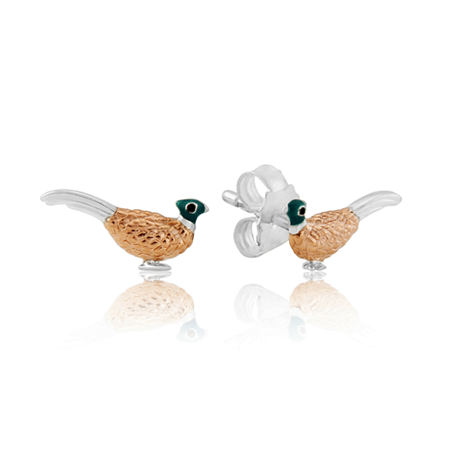 Pheasant Stud Earrings - Cotswold Jewellery