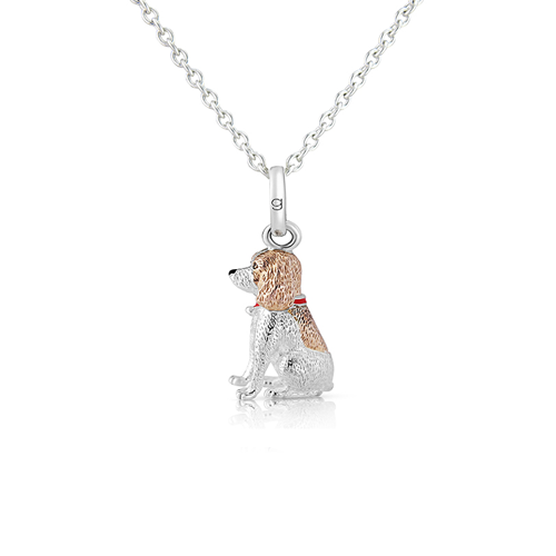 Spaniel Dog Pendant - Cotswold Jewellery