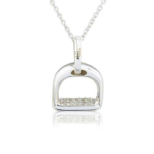 Sparkly Stirrup Necklace - Cotswold Jewellery