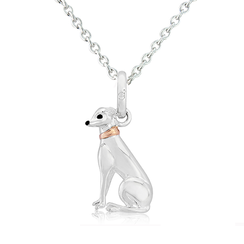 Grey Hound Pendant Necklace - Cotswold Jewellery
