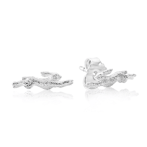 Hare Sterling Silver Stud Earrings - Cotswold Jewellery
