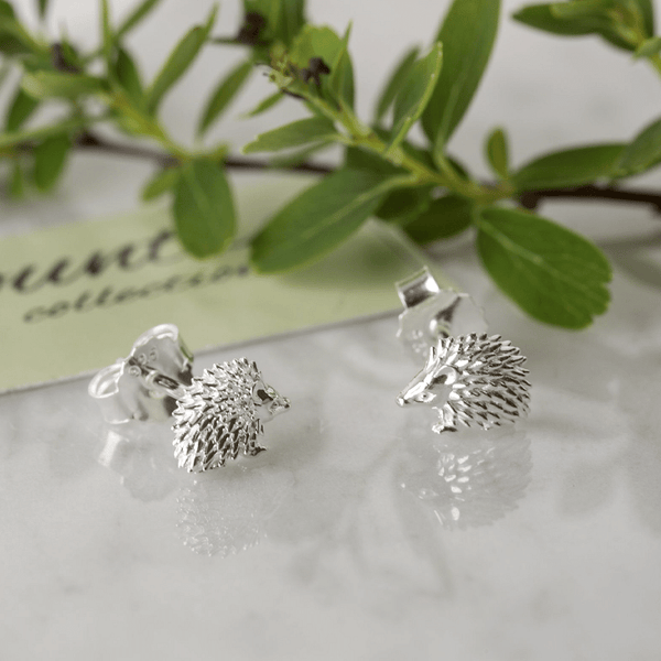 Hedgehog Stud Earrings - Cotswold Jewellery