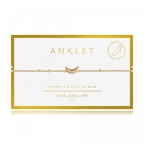Anklet Gold Moon - Cotswold Jewellery