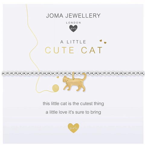 Children's A Little - Cute Cat Bracelet - Cotswold Jewellery