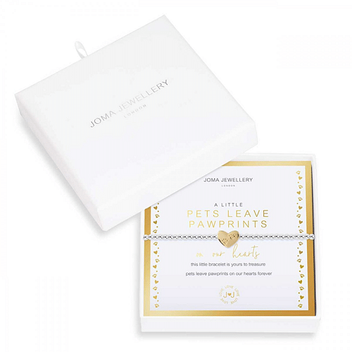 Beautifully Boxed A Littles - Pets Leave Pawprints on our Hearts Bracelet - Cotswold Jewellery