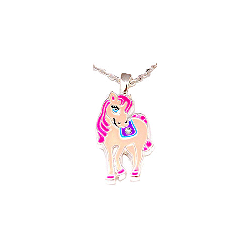 Children's Pink Pony Necklace with Pony Gift Box - Cotswold Jewellery