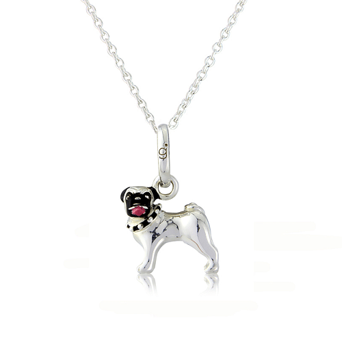 Pug Dog Pendant - Cotswold Jewellery