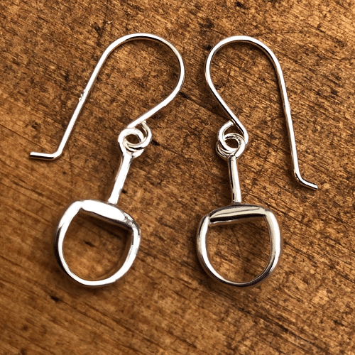 Silver Snaffle Drop Earrings - Cotswold Jewellery