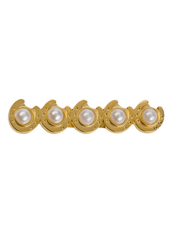Horseshoes with Pearls Stockpin - Cotswold Jewellery