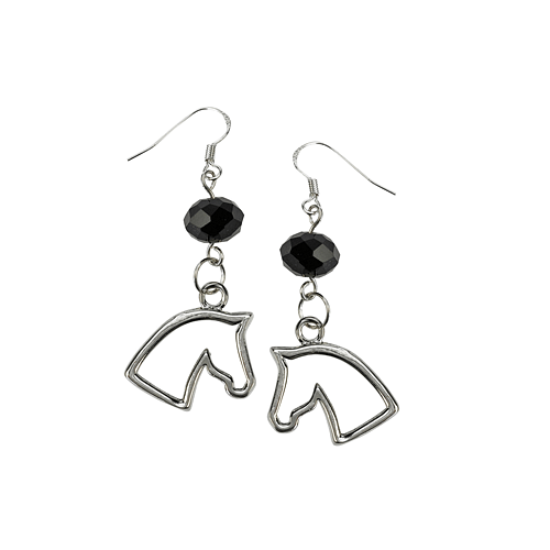 Glass Bead Horse Head Earrings - Cotswold Jewellery
