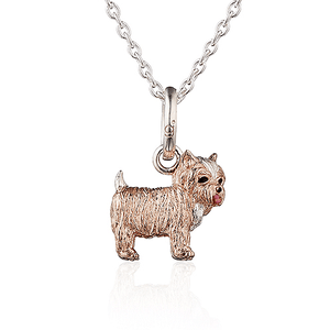 Yorkshire Terrier Dog Pendant - Cotswold Jewellery