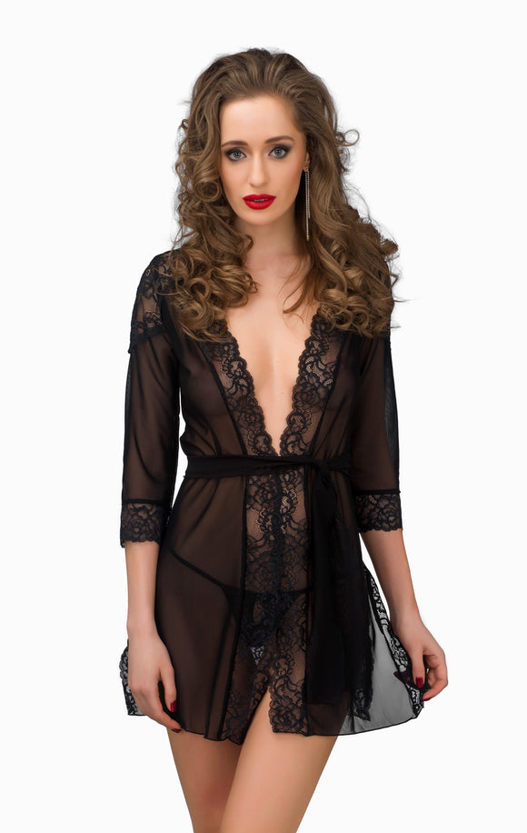 TET Lingerie Peignoir Bella Black