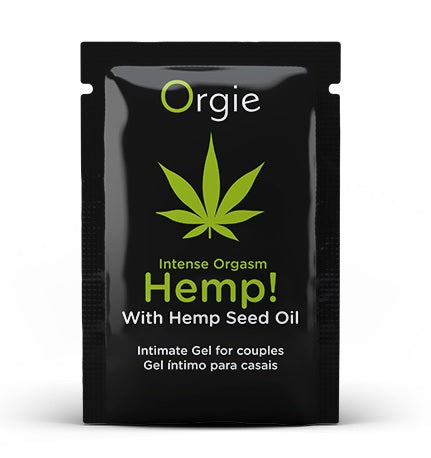 Orgie Sample Sachet - Hemp! Intense Orgasm
