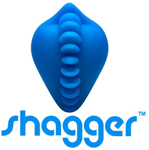 Shagger Stimulating Strap-On Dildo Base Blue