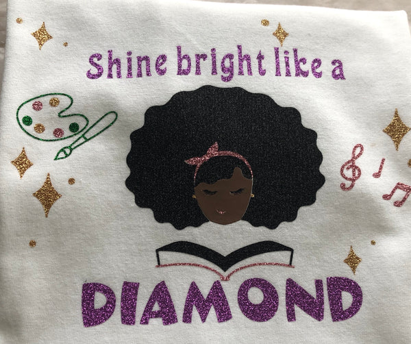 Bright Like a Diamond - Girls Toddler & Youth T-Shirt