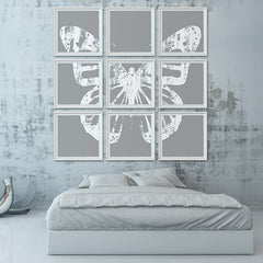 Butterfly with Forest Wings - Grouping 2 - Gray