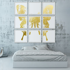 Butterfly with Forest Wings - Grouping 1 Gold on White