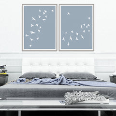 Smokey Bird 2 - Dusty Blue - Large
