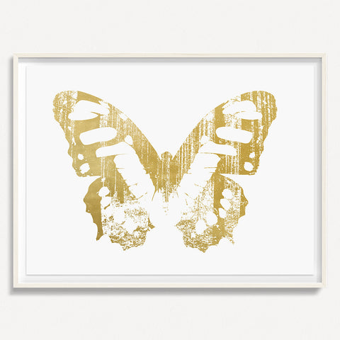 Butterfly with Forest Wings 1 - Gold