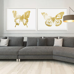 Butterfly with Forest Wings 3 - Gold